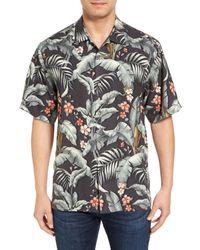 Tommy Bahama   Black Blumenau Original Fit Silk Camp Shirt for Men   Lyst