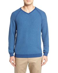 Tommy Bahama | Blue Make Mine A Double V-neck Sweater (reversible) for Men | Lyst