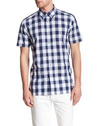 Ted Baker - Blue Gingham Trim Fit Shirt for Men - Lyst