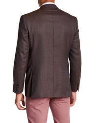 Ted Baker - Multicolor Jones Burgundy Printed Trim Fit Wool Sport Coat for Men - Lyst