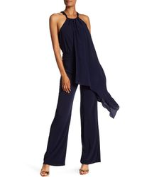 Trina Turk - Blue Grand Asymmetrical Draped Jumpsuit - Lyst
