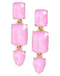 Loren Hope | Pink Terra Jeweled Drop Earrings | Lyst