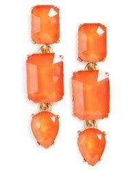 Loren Hope | Orange Terra Jeweled Drop Earrings | Lyst