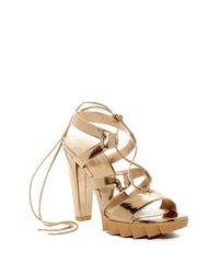 Stuart Weitzman | Multicolor Tiegirl Platform Sandal | Lyst