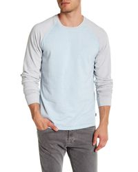 Threads For Thought - Blue Crew Neck Raglan Sleeve Burnout Tee for Men - Lyst