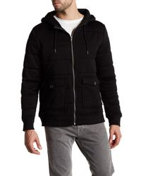 Threads For Thought | Black Quilted Puffy Zip Hoodie for Men | Lyst
