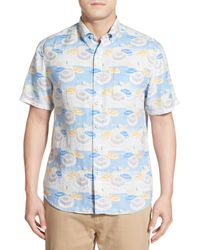 Tommy Bahama | Blue Made In The Shade Island Modern Fit Linen Camp Shirt for Men | Lyst