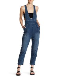 Tibi | Blue Denim High Waist Overall | Lyst