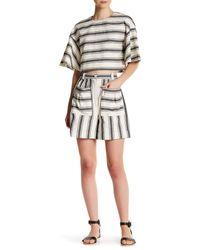 Tibi | Multicolor Ariel Stripe Dayle Short | Lyst