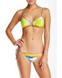 Trina Turk - Yellow Crystal Cove Bikini Top - Lyst