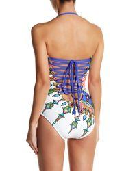 Trina Turk - White Kasbah Bandeau One-piece Swimsuit - Lyst