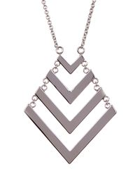 Trina Turk | Metallic Chain Drop Chevron Pendant Necklace | Lyst