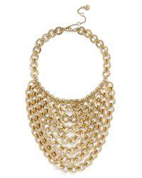 Trina Turk | Metallic Chain Bib Necklace | Lyst