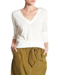 Tommy Bahama   White Pickford Frayed Silk Trim Pullover Sweater   Lyst