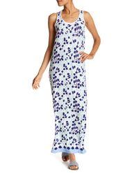 Tommy Bahama | Blue Border Tiles Maxi Print Dress | Lyst