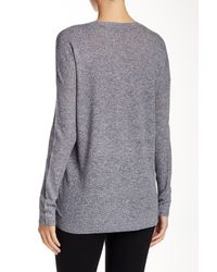 Vince - Blue Long Sleeve V-neck Sweater - Lyst
