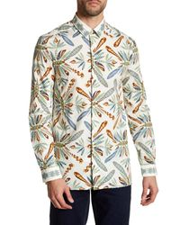 Versace | White Dragonfly Long Sleeve Trim Fit Shirt for Men | Lyst