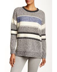VINCE | Gray Boucle Easy Fit Sweater | Lyst