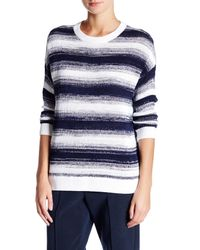 VINCE | Blue Ombre Stripe Pullover | Lyst
