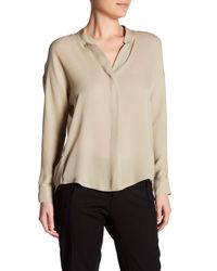 VINCE | Natural Silk Dolman Sleeve Blouse | Lyst
