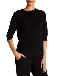 VINCE | Black Elbow Sleeve Cashmere Sweater | Lyst