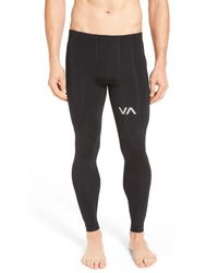 RVCA | Black Virus Compression Pant for Men | Lyst