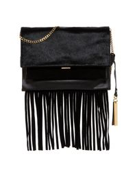 Vince Camuto | Black Amele Genuine Calf Hair Shoulder Bag | Lyst