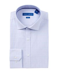 Vince Camuto | Blue Twill Trim Fit Dress Shirt for Men | Lyst