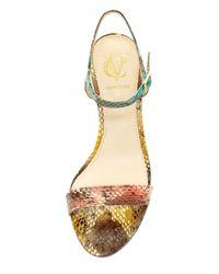 Vince Camuto Signature - Multicolor Alcine Genuine Snakeskin Sandal - Lyst