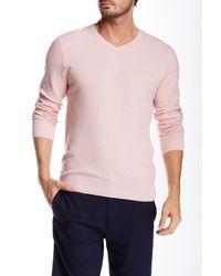 Vince Camuto   Pink V-neck Sweater for Men   Lyst