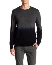 Vince Camuto | Gray Dip-dye Crew Neck Sweater for Men | Lyst