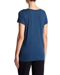 Vince - Blue Scoop Neck Pocket Tee - Lyst