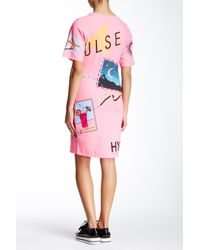 Love Moschino - Multicolor Graphic Print T-shirt Dress - Lyst