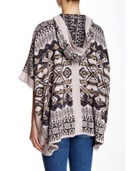 Gypsy 05 - Multicolor Intarsia Poncho With Hood - Lyst