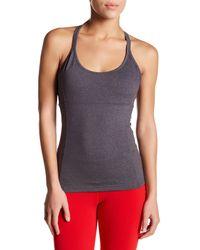 Alo Yoga | Gray Lotus Bra Tank | Lyst