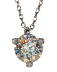 Kate Spade - Multicolor Mini Rhinestone Pendant Necklace - Lyst