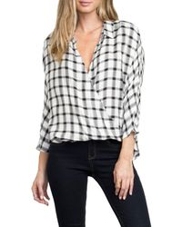 RVCA | White Commander Crossover Plaid Top | Lyst