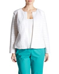 Lafayette 148 New York | White Catrice Linen Jacket (plus Size) | Lyst