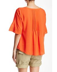 Sanctuary - Orange Embroidered Willow Blouse - Lyst