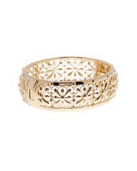 Nadri - Metallic Crystal Embellished Bangle Bracelet - Lyst