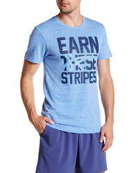 Asics - Blue Earn These Stripes Tee for Men - Lyst