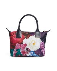 Ted Baker - Blue Blushing Bouquet Small Tote - Lyst