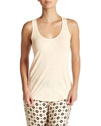 Pj Salvage   Natural Lace Trim Solid Tank   Lyst
