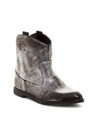 DIESEL | Gray D-liza Western Boot for Men | Lyst