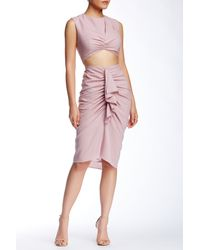 Do+Be Collection - Pink Ruched Crop Skirt - Lyst
