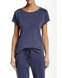 Natori   Blue Lounge Short Sleeve Sweatshirt   Lyst