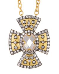 Freida Rothman - Metallic 14k Gold & Rhodium Plated Metropolitan Cz Pendant Necklace - Lyst