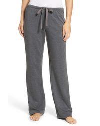 Natori | Gray Brushed Lounge Pants | Lyst