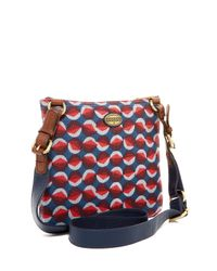 Fossil | Red Explorer Fabric Crossbody | Lyst