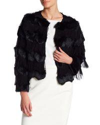 Cinq À Sept   Black Genuine Rabbit Fur Perla Jacket   Lyst